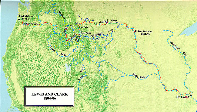 K12 TLC Guide to Lewis and Clark Corps of Discovery – Lewis And Clark Travel Map