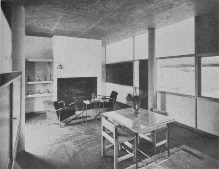 #10 -- Le Corbusier and Pierre Jeanneret's De Mandrot Villa living room (1931)