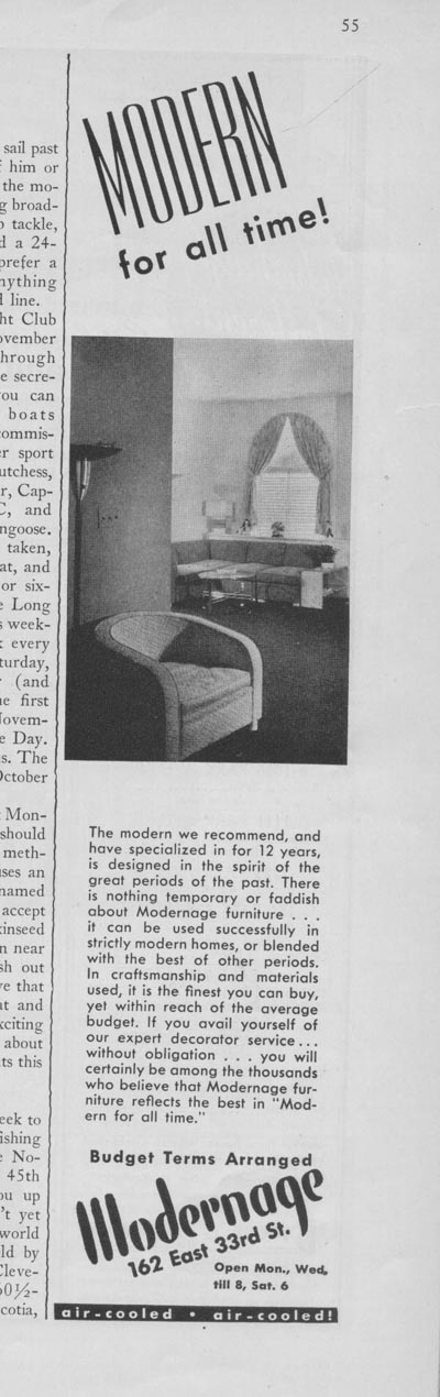 #11 -- Modernage furniture ad (1937)