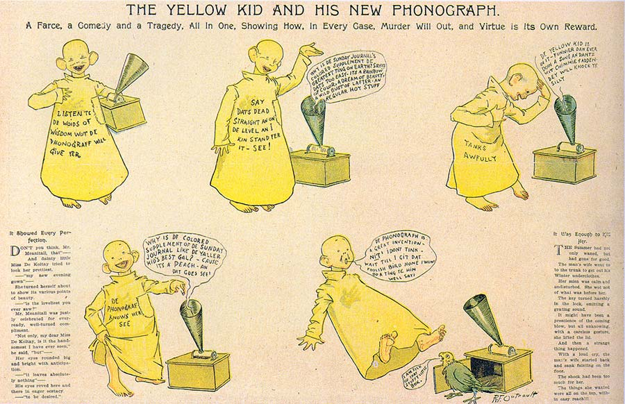 The Yellow Kid On The Paper Stage