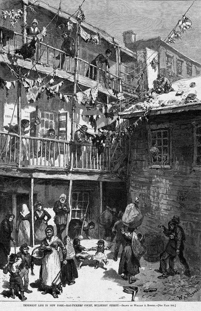 tenement living essay Photo of tenements by jacob riis, c 1900 increasing awareness by the public of  poor living conditions led to housing reform such as the.