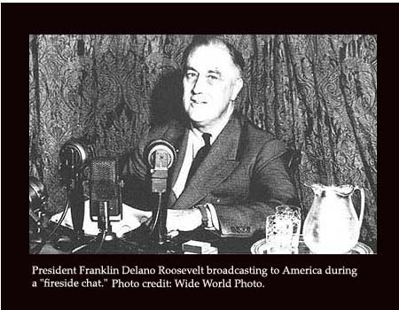 fdrs first fireside chat The first 5 minutes of of a 13 min 42 sec speech delivered on march 12, 1933 when president franklin d roosevelt took office in 1933, one in four americans.