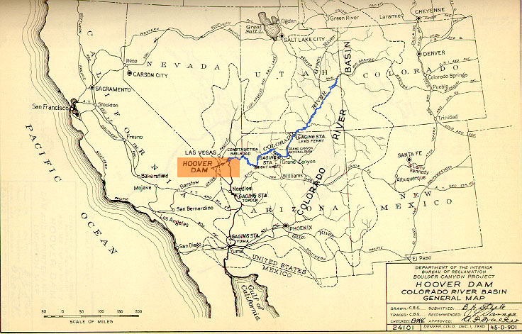 Map American Southwest