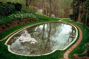Dumbarton oaks the actual gardens for Garden oaks pool
