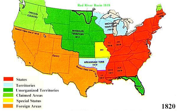 US Territorial Maps - Map of us in 1820