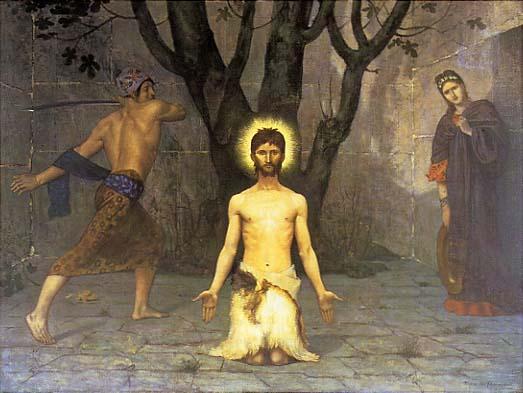 Pierre Puvis de Chavannes: La Décollation de Saint Jean Baptiste (1869), Barber Institute of Fine Arts, Birmingham, England