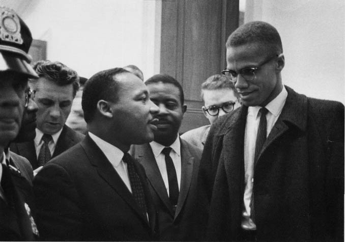 martin luther king and malcolm x As the nation's most visible proponent of black nationalism, malcolm x's challenge to the multiracial, nonviolent approach of martin luther king, jr, helped set the tone for the ideological and tactical conflicts that took place within the black freedom struggle of the 1960s.