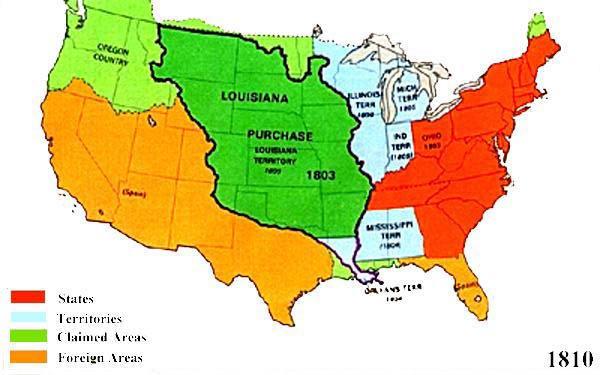 Us Territory Map U.S. Territorial Maps 1810 Us Territory Map