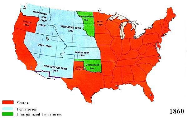 Us Map 1860 U.S. Territorial Maps 1860 Us Map 1860